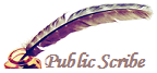 Public Scribe quill with ink