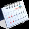 standup flip calendar